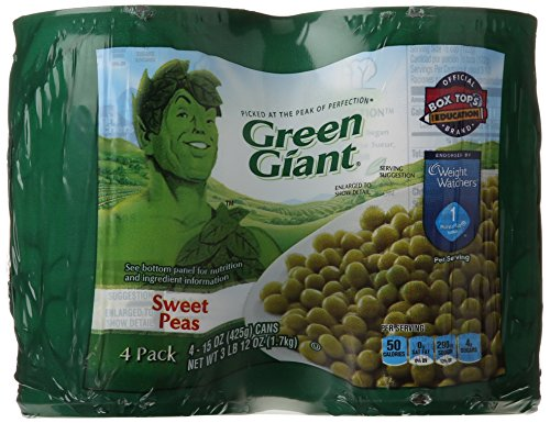 Green Giant Vegetable Cans, Sweet Peas, 60 Ounce