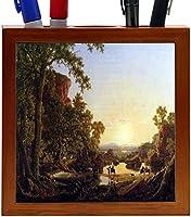 Rikki Knight Frederick Edwin Church Art Hooker and Convey Pass Through Wilderness Design 5-Inch Wooden Tile Pen Holder (RK-PH3303)