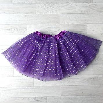 Falda de tul, diseño de modelo violeta 0/8 años, de 4 a 8 años, 6 ...