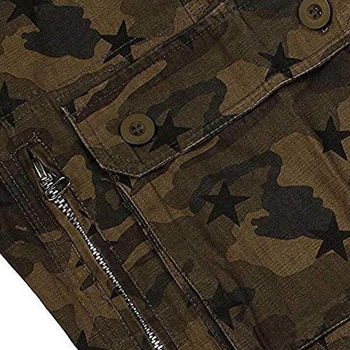 Da Semplice Uomo Sportivi Con Lanceyy 33 Militari Star color Esterno Army Pantaloni Size Stile Mens Multitasche Mimetici Cargo qFwwnHUERz