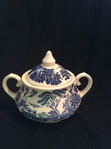 - Old Willow Sugar Dish By English Ironstone Tableware