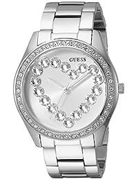 Guess para mujer de acero inoxidable corazón de vidrio reloj 24d357de92c5