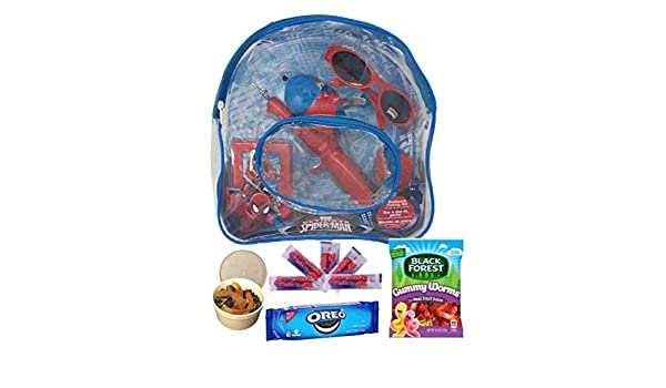 Amazon.com : Powers Candy Co., Inc, For your Convenience Marvel Spiderman Fishing Gift Set | Backpack Fishing Combo | Birthday Boy Fisher | Activity Set ...