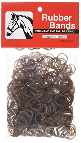 Partrade 245913 222695 Rubber Braid Bands, Brown, 5