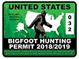 Bigfoot Hunting Permit - United States (Bumper Sticker)