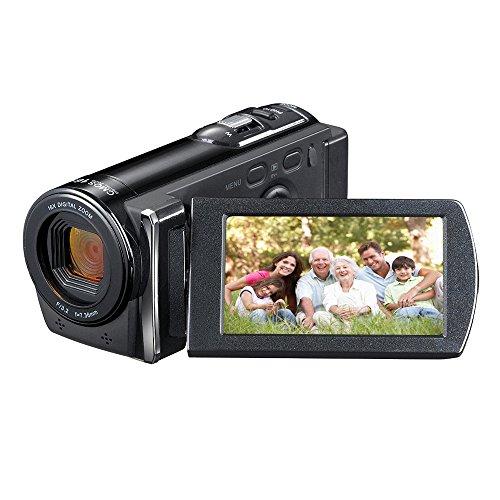 PowerLead Dcam PL-C10 16MP Digital Camcorder Camera DV Video Recorder with 2.7' Display 16x Digital Zoom