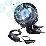 Tvird Negative Ions Car Fan 12V Cooling air Fan with Powerful Adjustable Speed