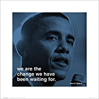 Barack Obama Change Political Inspirational Motivational iPhilosophy Quote Poster Print 16x16