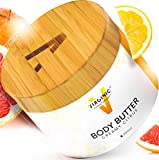 Body Lotion Shea Butter Cream For Women Men Dry Sensitive Skin With Natural Oil Moisturizing Pure Face Care Moisturizer Above Organic Vegan Raw Whipped Best Beauty Hand Eczema Acne Free No Parabens