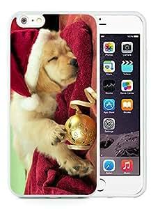 2014 Newest iPhone 6 Plus Case,Christmas Dog White iPhone 6 Plus 5.5 TPU Case 45