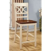 247SHOPATHOME Idf-3552WC-PC Dining-Chairs, Antique White and Cherry