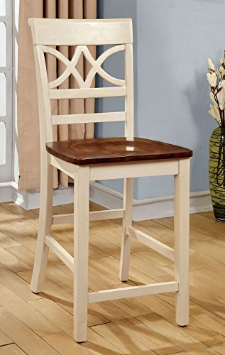 247SHOPATHOME IDF-3552WC-PC Dining-Chairs, Antique White and Cherry Review