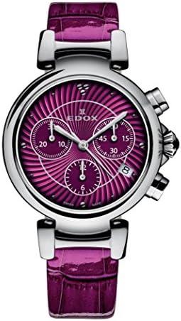 Edox Women s 10220 3C ROIN LaPassion Analog Display Swiss Quartz Pink Watch
