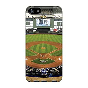 Hot Tpu Cover Case For Iphone/ 5/5s Case Cover Skin - Milwaukee Brewers