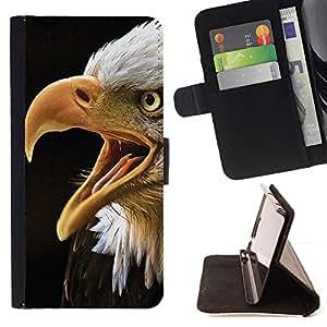 - Man art - - Monedero pared Design Premium cuero del tir?n magn?tico delgado del caso de la cubierta pata de ca FOR Samsung Galaxy S6 Funny House