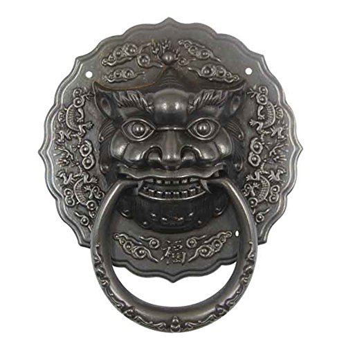tiger head knocker antique gate/beast of pure copper antique handle/Vintage retro ring Door Knocker-C