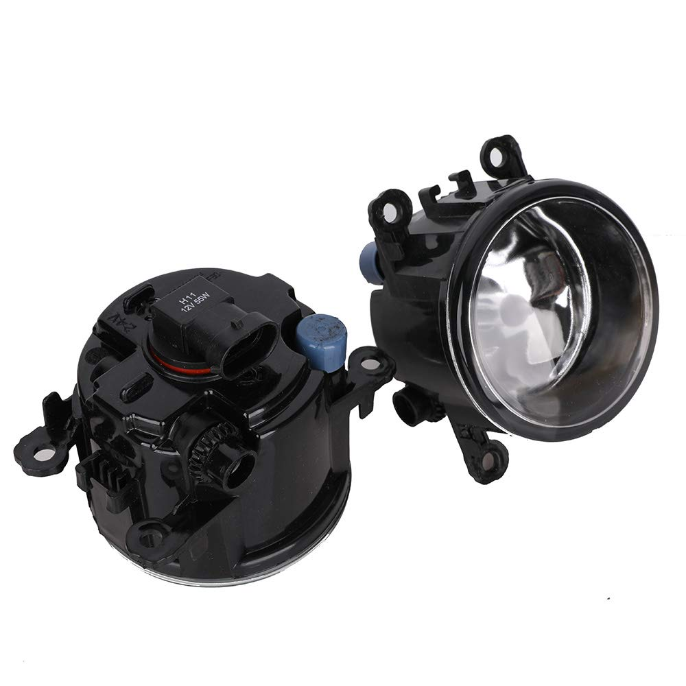 1 Pair 55W Fog Lights Assembly Fog Lamp Clear Lens Bumper Lamp Bulbs w//Harness Bracket Kit for Ford Focus S SE SEL Titanium 2012 2013 2014