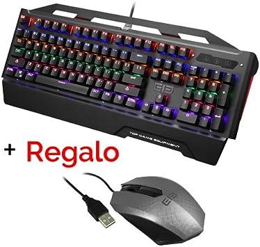 Teclado gaming mecanico Elephone Game 2 colores USB. TTC Blue ...
