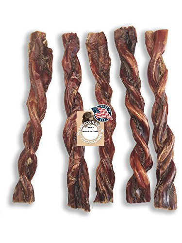 HDP Bully Twists 9 Bully Sticks Odor Free Made in USA