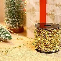 Christmas Tree Decoration Accessories Golden Beads Wedding Event