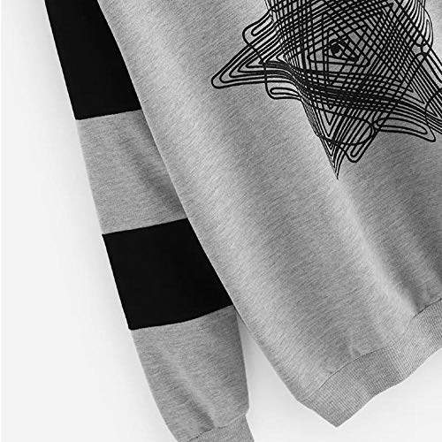 E Casual A Maglione Felpa Donna Maglia Lunghe Maniche Girocollo Modelli Top T Cappuccio Moda shirt Camicia Stampa Pullover Inverno Autunno Con z1Xn1SqE