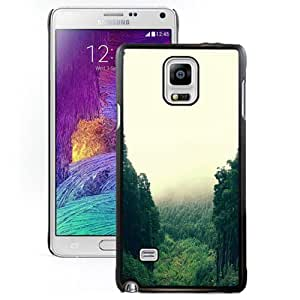 Unique Designed Cover Case For Samsung Galaxy Note 4 N910A N910T N910P N910V N910R4 With Mountain Mirror Green Wood Nature Wallpaper Phone Case