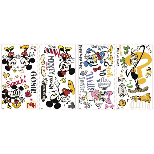 Roommates Rmk2327Scs  Mickey And Friends, Mickey Shorts Peel And Stick Wall Decals