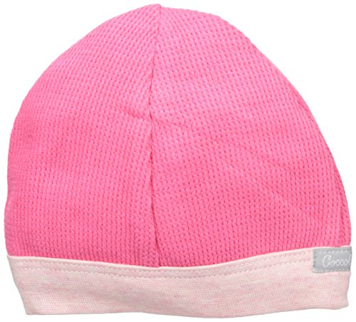 Pink Waffle Knit Cotton Cap, Camellia, 9-12 Months ()
