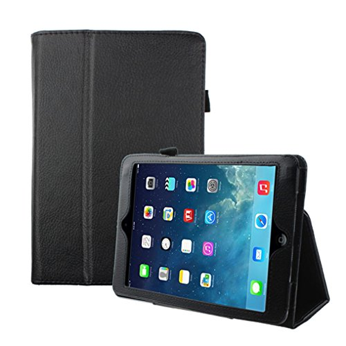 Price comparison product image MNtech New Magnetic Flip Leather Case Cover Stand Holder For iPad Mini 3 2 1 Retina (Black)