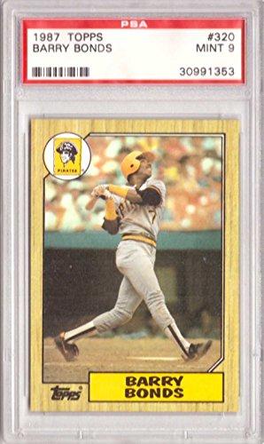 - Barry Bonds Graded PSA 9 MINT (Baseball Card) 1987 Topps - [Base] #320