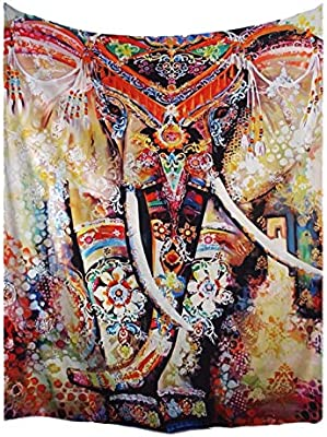 A.Monamour Tapices Multicolor Bohemio Floral Elefante Indio Hippie ...