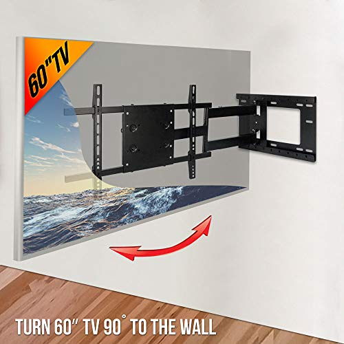 Aeon Stands and Mounts 40200 full motion TV wall mount with 28'' Extension (Black) by Aeon Stands and Mounts (Image #2)