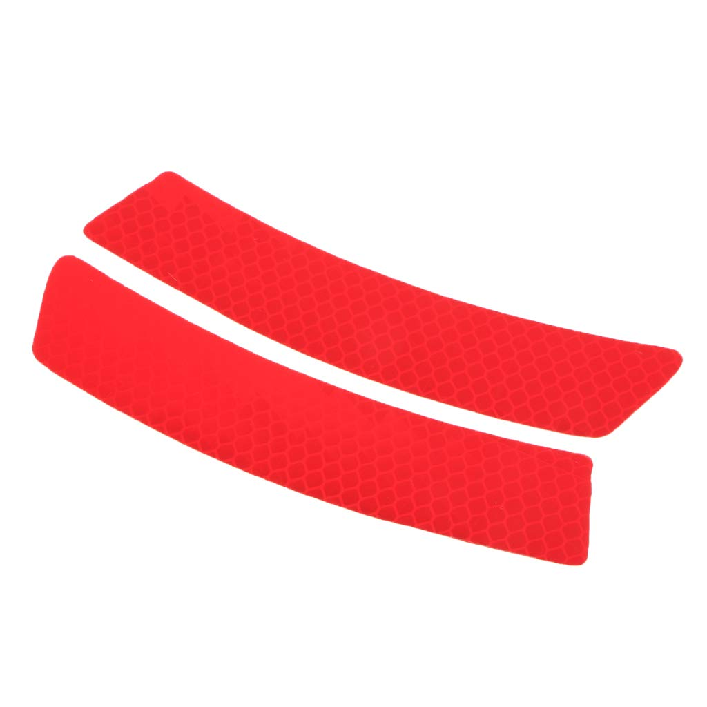 Red MagiDeal 2 Pieces Reflective Motor Car Rim Stripe Wheel Decal Tape Sticker