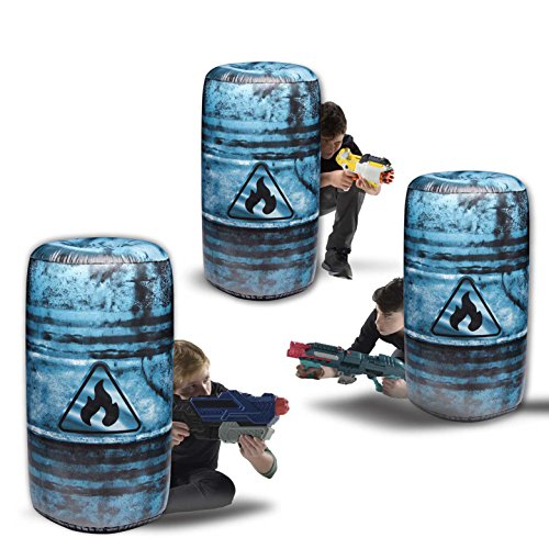 85off bunkr inflatable 3 piece oil barrel battle zone set 85off bunkr inflatable 3 piece oil barrel battle zone set compatible with stopboris