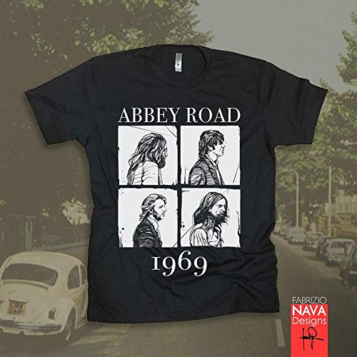 The Beatles Abbey Road Blocks Men's Graphic T-shirt Beatles ()