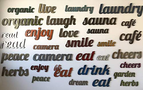 Custom Word - Metal Wall Art home decor - Handmade - Choose ANY custom 2-11 letter word! Choose your Height - Choose your Patina Color (Custom Word Art)