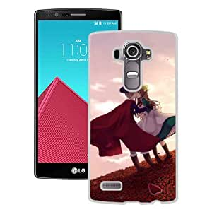 Popular And Unique Designed Cover Case For LG G4 With Boy Girl Kiss Sunset Flowers white Phone Case BY icecream design