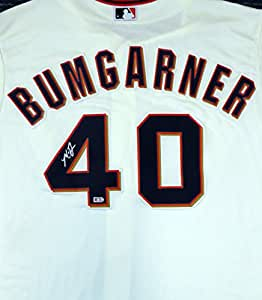 San Francisco Giants Madison Bumgarner Autographed Cream Majestic Cool Base Jersey Size XL MLB Holo