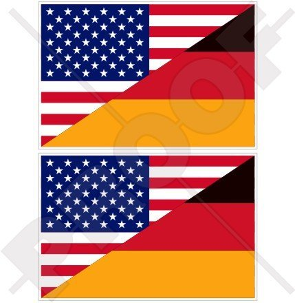 USA United States of America & GERMANY Flag, American & German, Deutschland 3