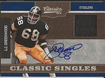 LC Greenwood 2010 Panini Classics Singles Game Jersey Autograph #8/15 ()