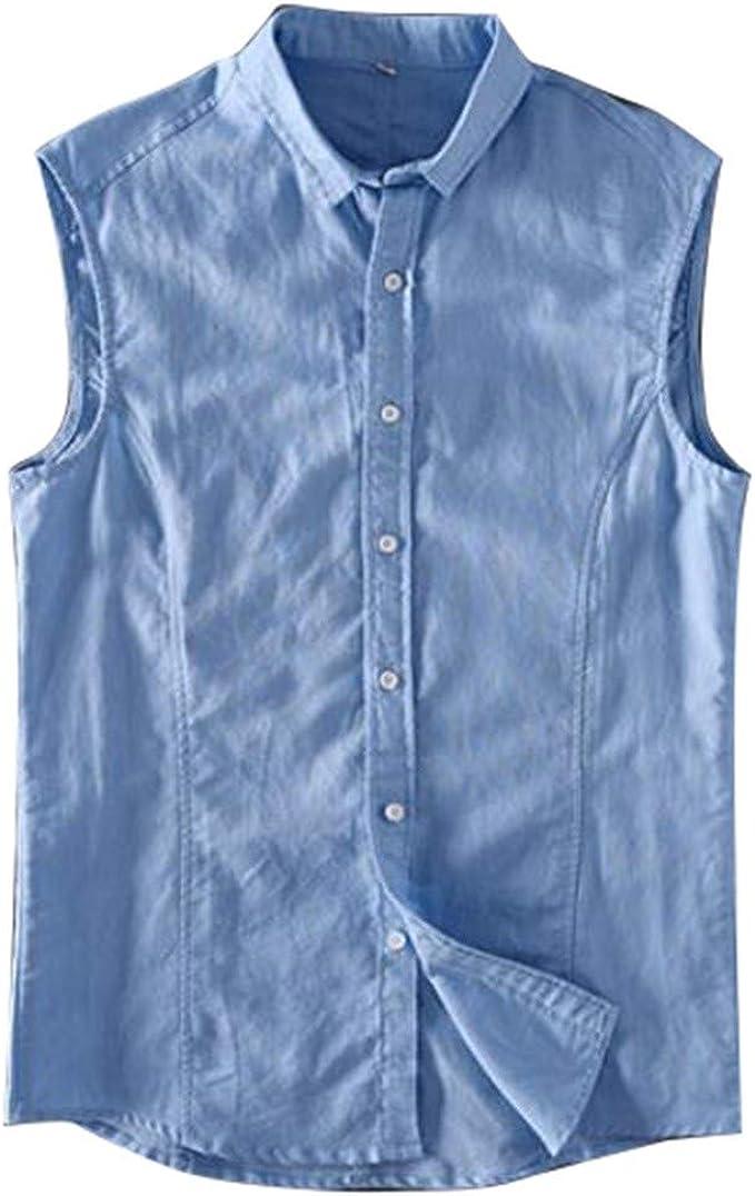 Riokk Az Cute Nautical Anchor Cotton Sleeveless Tank Tops Shirt Fit Mens