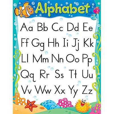 Trend Enterprises Alphabet Sea Buddies Learning Chart (1 Piece), 17
