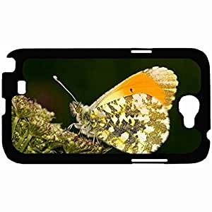 New Style Customized Back Cover Case For Samsung Galaxy Note 2 Hardshell Case, Back Cover Design Insects Lepidoptera Personalized Unique Case For Samsung Note 2
