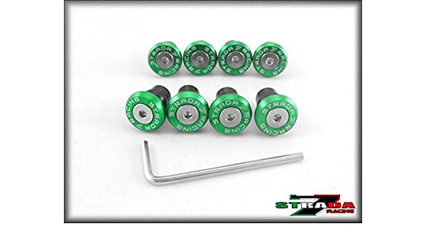 Motorcycle & ATV Strada 7 Racing CNC Windscreen Bolts M5 Wellnuts Set Green For Honda CBR600RR Body & Frame Parts