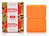 elimination Papaya & Kojic Acid Whitening Soap (2 Bars/3.52 Oz) - Natural Brightening Formula For Face & Body, Cell Renewal And Nourishment For Firm, Youthful Complexion, Even Skin Tone & Dark Spots Elimination