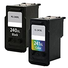 SaveOnMany ® 2PK Canon PG-240XL CL-241XL (PG240XL CL241XL) Black & Color PG-240 PG240 XL PG240-XL BK CL-241 CL241 XL CL241-XL Compatible Remanufactured Ink Cartridge For Canon PIXMA MG2120 MG2220 MG3120 MG3122 MG3200 MG3220 MG3222 MG3500 MG3520 MG3620 MG4120 MG4220 MX372 MX392 MX430, MX432 MX439 MX450 MX452 MX459 MX472 MX512 MX520 MX522 MX532