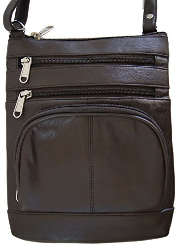 Brown Women And Girls Genuine Leather Cross Body Messenger Handbag, Purse by Wallet (Image #1)