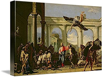 Imagekind Wall Art Print Entitled Jesus Healing The Paralytic At Pool Of Bethesd By