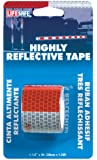"""Incom RE800 DOT-C2 Red/Silver 1.5"""" x 4' High Visibility Reflective Safety Tape"""