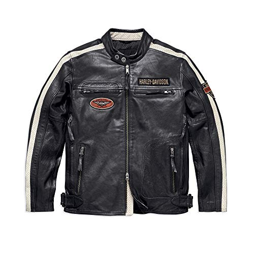 Harley-Davidson Men's Command Leather Jacket, Black (Large)